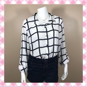 Charlotte Russe Sheer Button Down